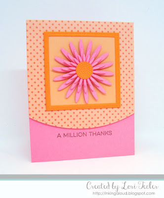 A Million Thanks card-designed by Lori Tecler/Inking Aloud-stamps and dies from My Favorite Things
