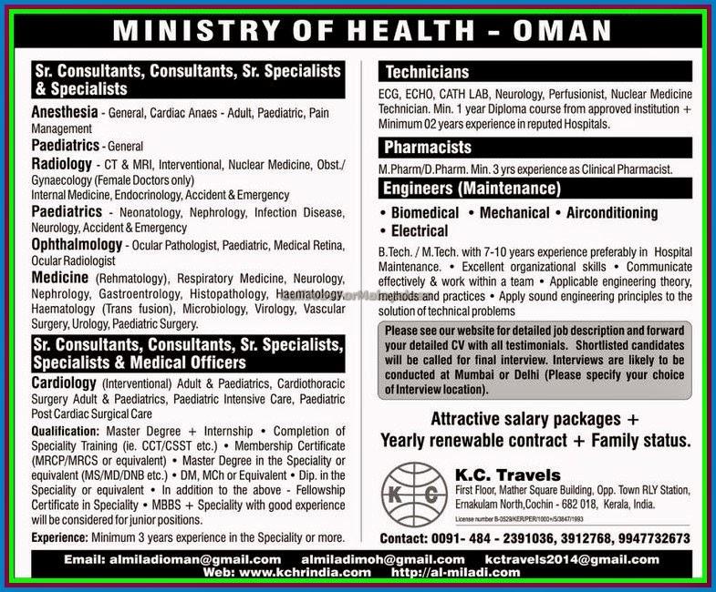 Nursing job vacancies in oman moh