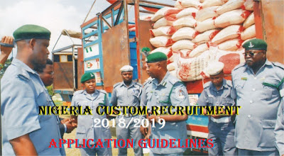www.customs.gov.ng Recruitment Login Form Portal 2018/2019 - Nigeria Custom Service Recruitment Application Requirements
