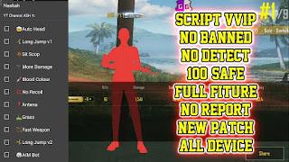 Script VIP PUBG Mobile Versi 0.11.0 Gratis Anti ban