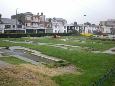 The old Arnold Palmer Crazy Golf course in Southend-on-Sea before it was completely removed