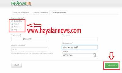 Cara cepat diterima daftar bisnis cpm revenuehits untuk blog