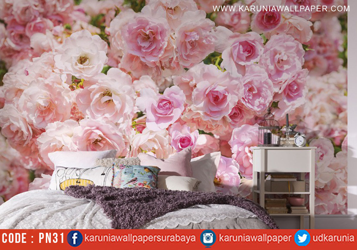 jual wallpaper dinding bunga photowall surabaya