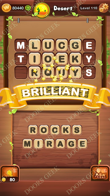 Word Bright Level 110 Answers, Cheats, Solutions, Walkthrough for android, iphone, ipad and ipod