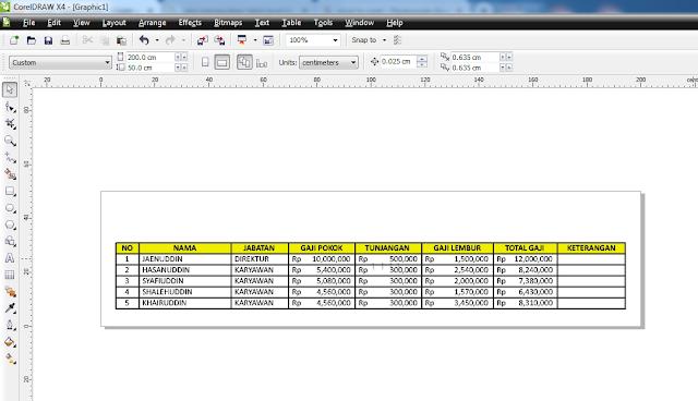 Cara Memasukkan Tabel Excel Ke Corel Draw Dengan Mudah