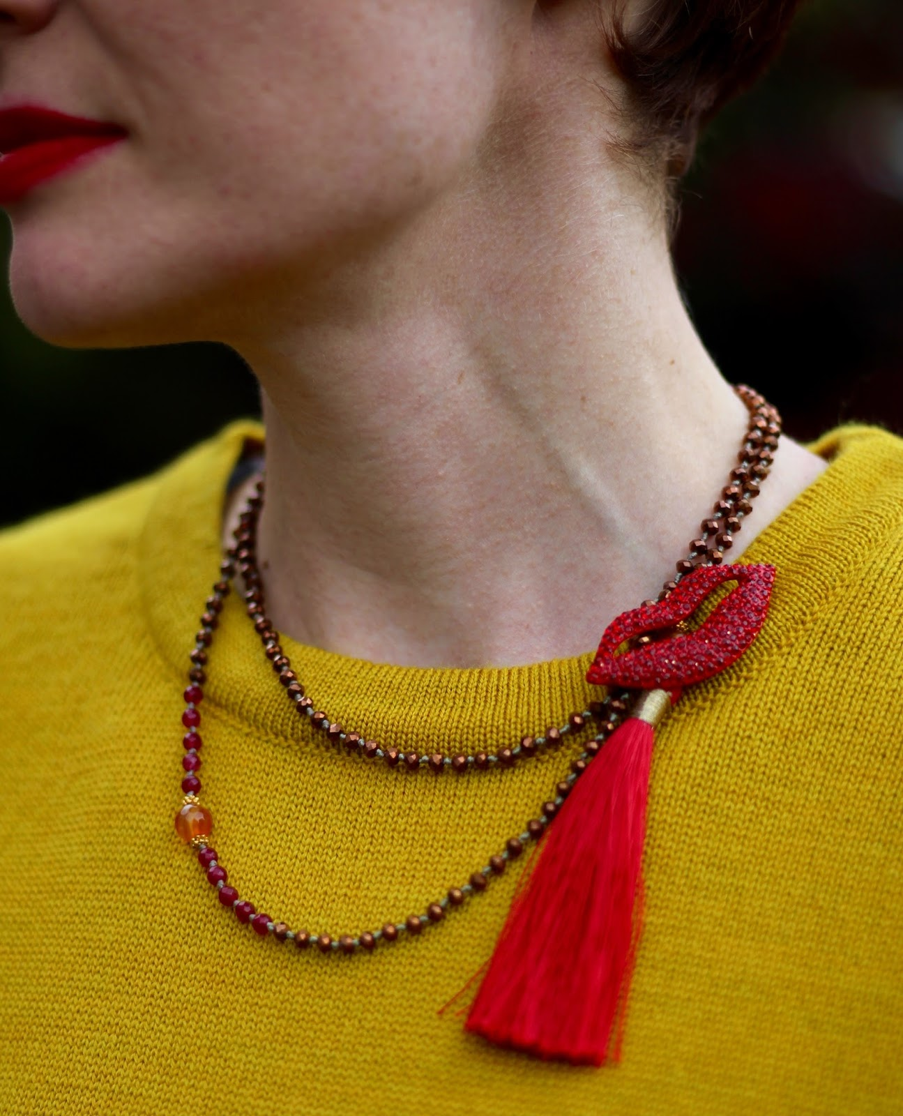 Kettlewell Yellow Jumper & Tassel Necklace | Fake Fabulous