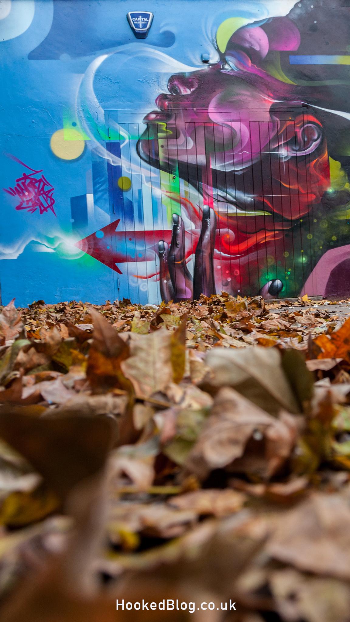 Mr Cenz - Brick Lane Street Art Mural in the Seven Star Yard