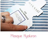 masque hyaluron Han Nari