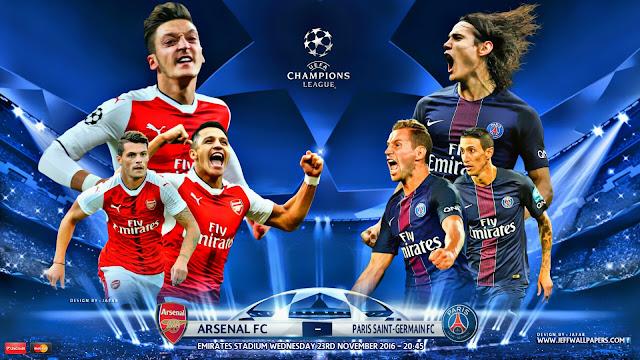 Arsenal x PSG (23/09/2016) - Prognóstico, Horário e TV Champions League 2016
