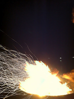 campfire spark trails with iphone slow shutter cam app