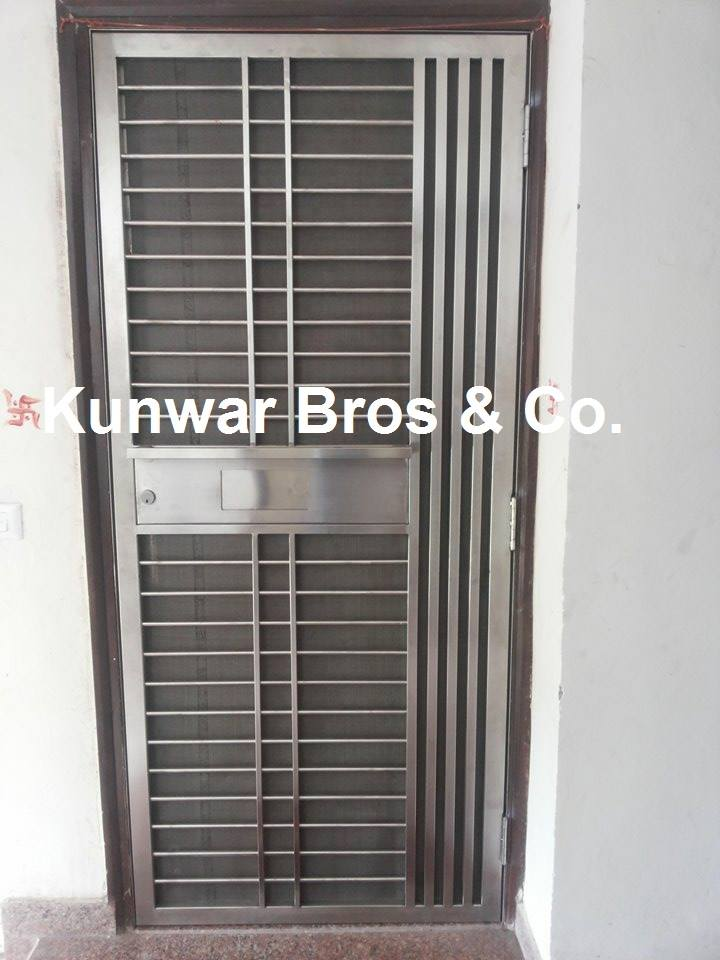 Kunwar bros co ss door steel door main door safety for Entrance door designs for flats in india