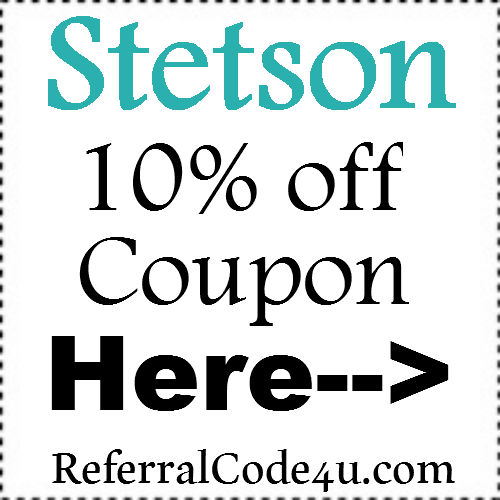 Stetson Promo Code February-March, Stetson Coupon April-May, Stetson Discount Code June-July