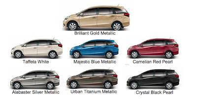 Warna Honda Mobilio Yang Paling Laris, Diminati & Harga Jual Tinggi 2017