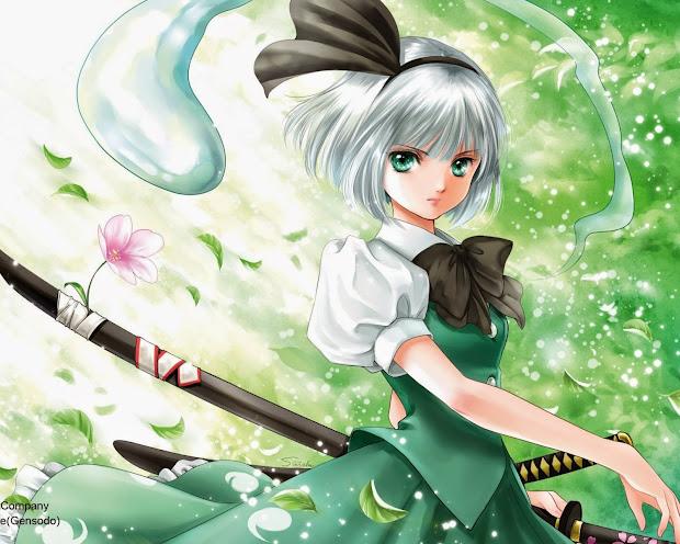 anime girl with silver hair