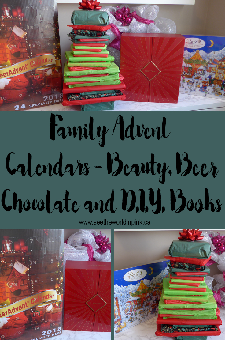 Family Advent Calendars ~ Beauty, Beer, Chocolate, and D.I.Y. Books!