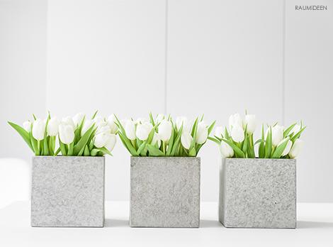 Frohe Ostern - Deko mit Tulpen