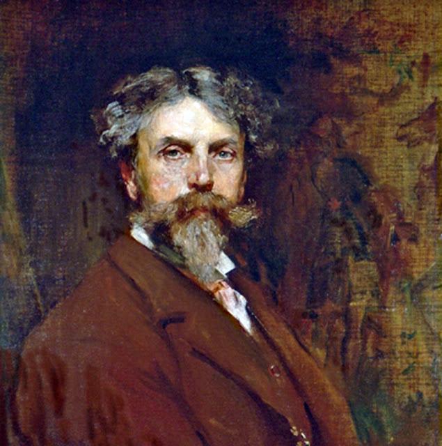William Ewart Lockhart, Self Portrait, Portraits of Painters, William Ewart, Fine arts, Portraits of painters blog, Paintings of William Ewart, Painter William Ewart