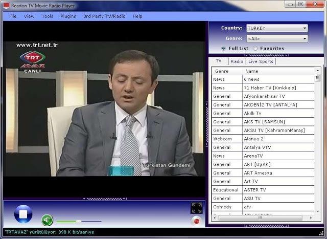 الدرس : برنامج readon tv movie radio player لتشغيل قنوات العالم بأكمله على حاسوبك وبجودة عالية