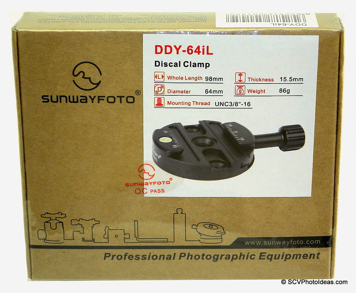 Sunwayfoto DDY-64iL Discal QR Clamp box - shrink wrapped