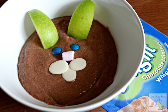 Chocolate Mint Angel Delight with Easter themed decoration Bunny