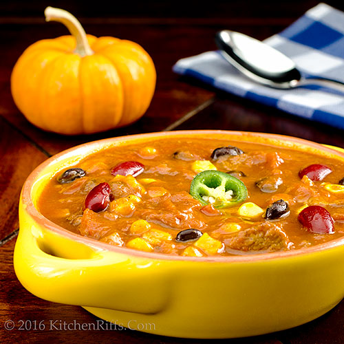 Pumpkin and Pork Chili