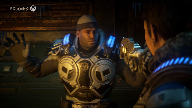 Gears 5 Cole Train hands up don't shoot black man