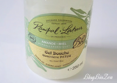 Gel douche amande miel bio - Rampal Latour