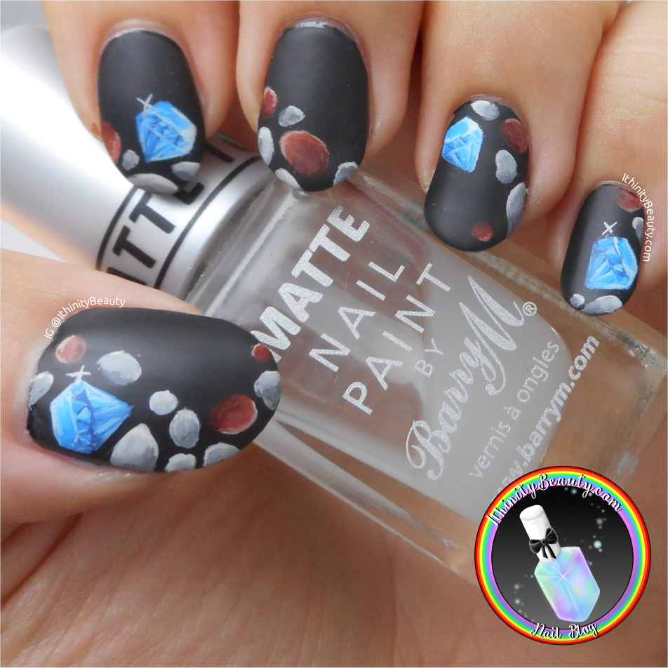 Diamonds & Lesser Pretty Rocks - Freehand Nail Art | IthinityBeauty ...
