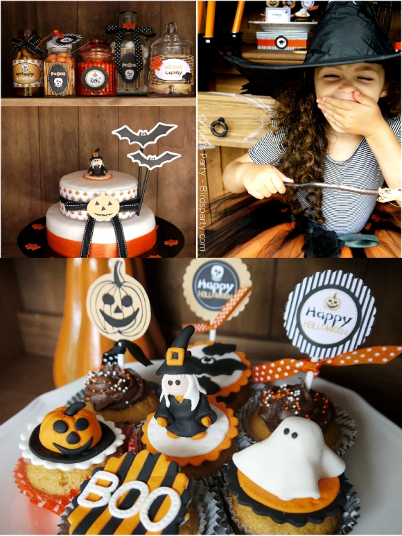Halloween Party Ideas   A Cute Witch's Potion Cupboard - BirdsParty.com