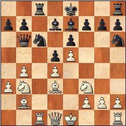 XVI Campeonato Femenino de Catalunya 1959, partida de ajedrez Maria Luïsa Puget - Pepita Ferrer, posición después de 13…Ch6?
