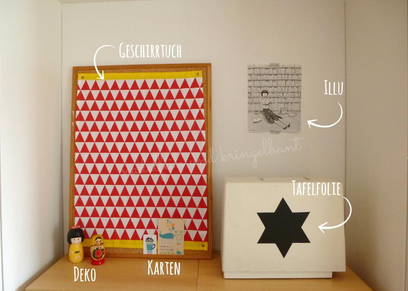 DIY Upcycling Pinnwand nachher Wohnen Dekoration