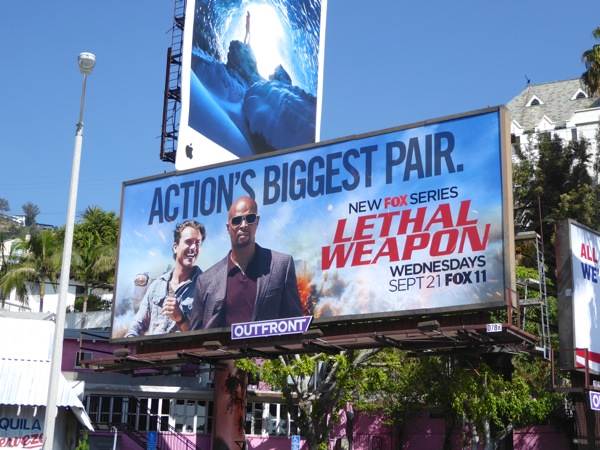 Lethal Weapon 2016 TV remake billboard