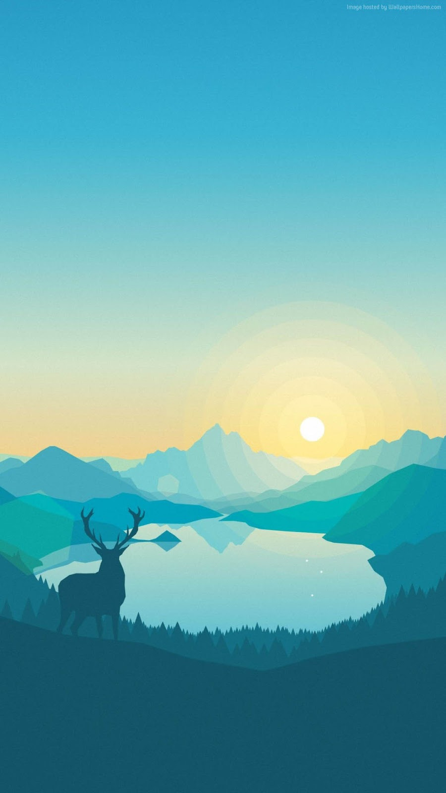 Ploskiy Abstract Forest Deer iPhone 7 and iPhone 7 Plus HD Wallpaper - HD iPhone 7 & iPhone 7 ...