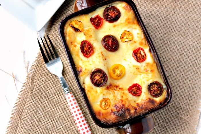 Smoked Bacon and Tomato Lasagne