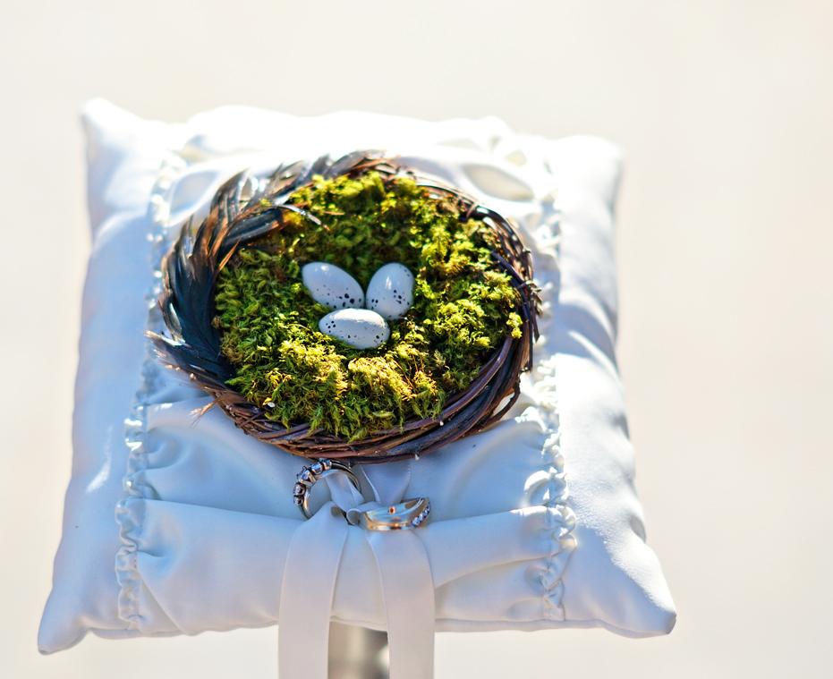 Sew Over It Lovebirds Nest Ring Bearer Pillow