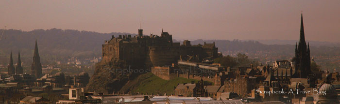 Edinburgh Castle as seen from Arthur's Seat