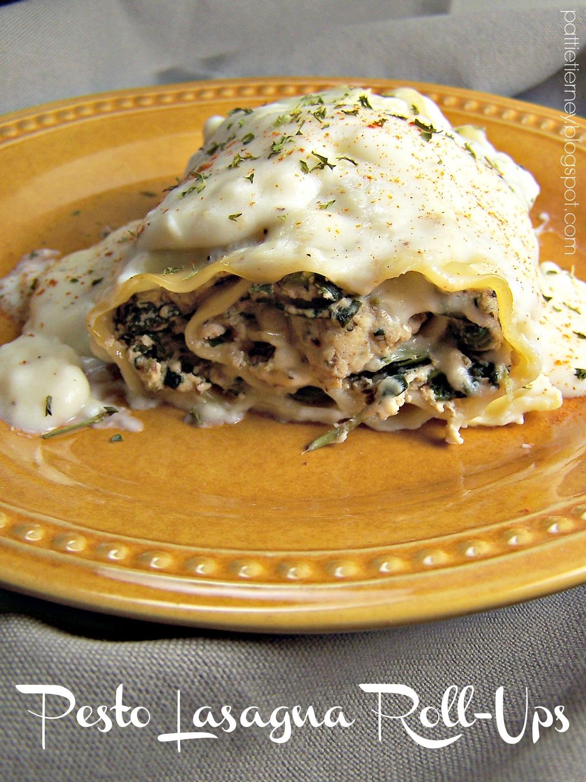 Pesto Lasagna Roll Ups