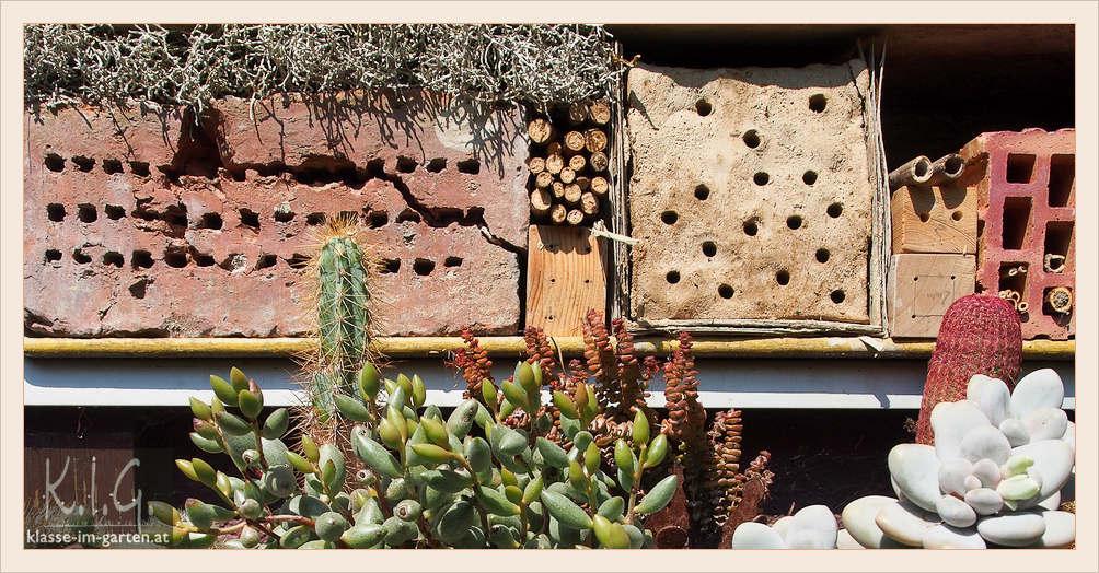 Insektenhotel in Balkonkasten