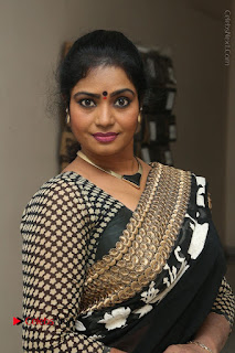 Telugu Actress Jayavani Jayavani Stills in Black Saree at Intlo Deyyam Nakem Bhayam Success Meet  0002.JPG