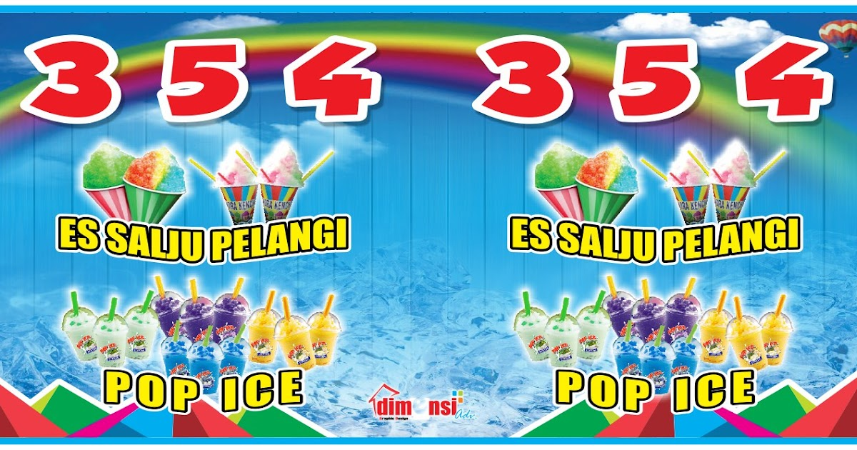 Contoh Spanduk Minuman Pop Ice - kumpulan contoh spanduk