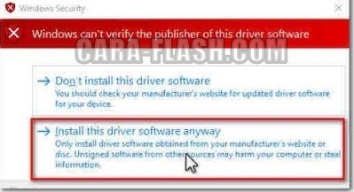 Install this driver anyway