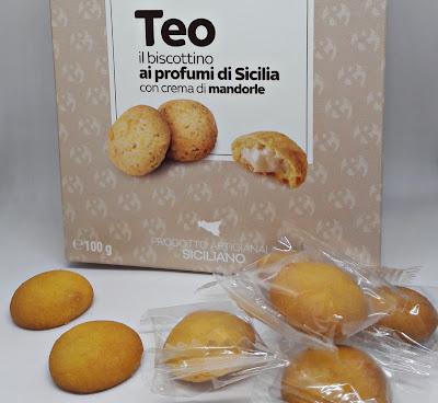Teo il biscottino ai profumi di Sicilia con crema di mandorle