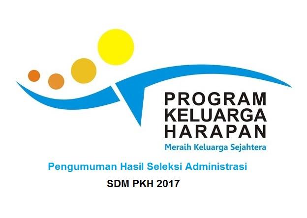 Pengumuman Hasil Sekelsi Administrasi SDM PKH 2017