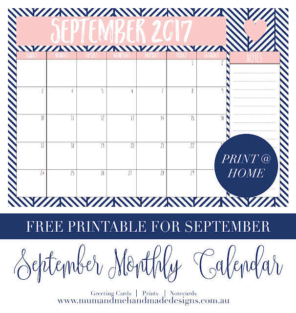 Free A4 Printable Calendar for August 2017