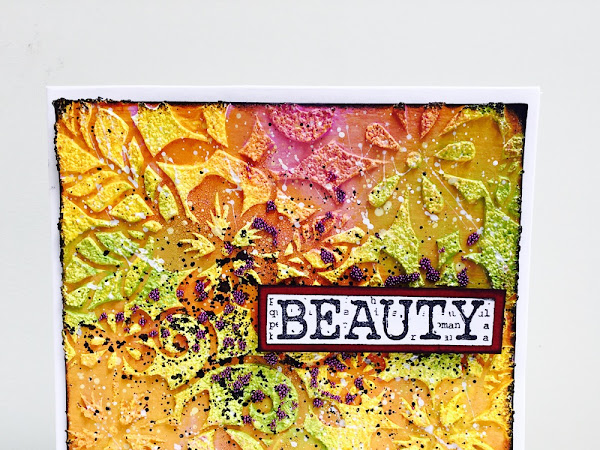 Beauty - Mixed Media Card