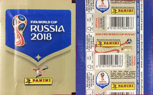 PANINI FIFA WORLD CUP RUSSIA 2018  PACKET MEXICO VERSION VERTICAL