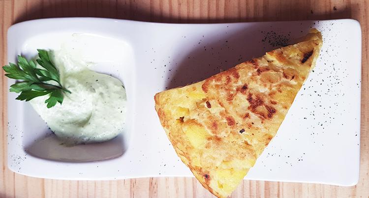 Tortilla de patatas au restaurant