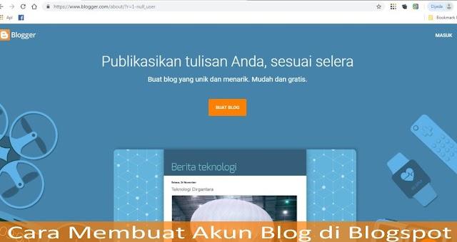 Cara Membuat Akun Blog di Blogspot