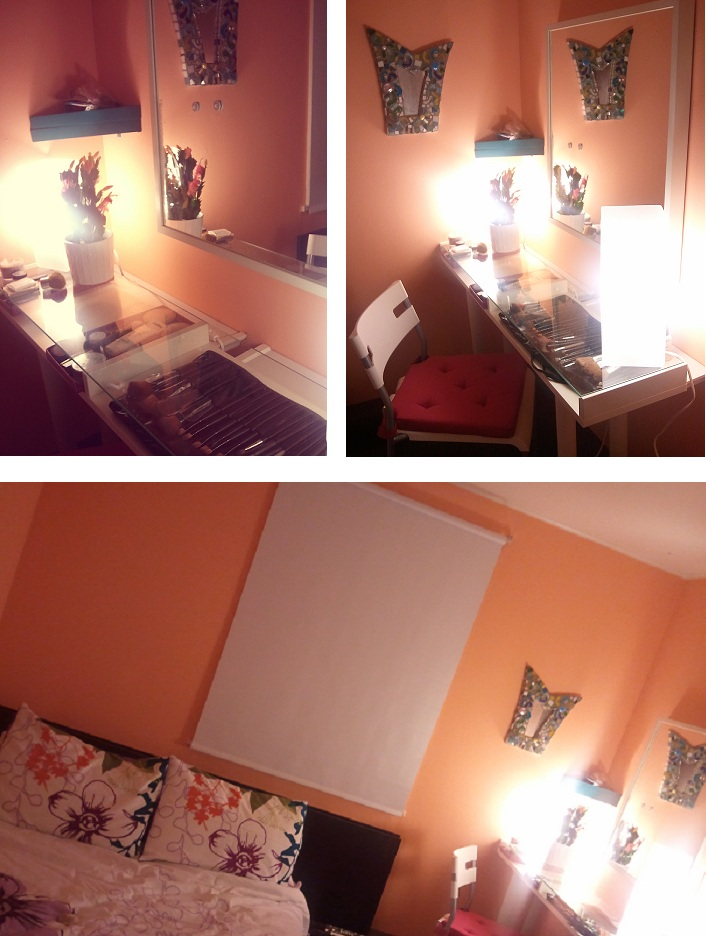 Pinterest made me do it: Ikea Vanity Make up table DIY {A post from