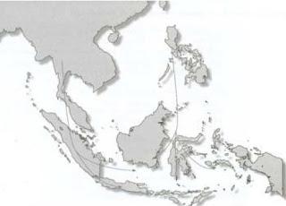 Peta Persebaran Bangsa Proti dan Deutro Melayu